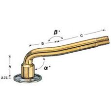 Large bore tube valve V3-04-4 with rubber base V3-08-3 (1pcs.)